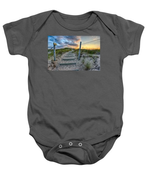 Path Over The Dunes Baby Onesie by Sebastian Musial