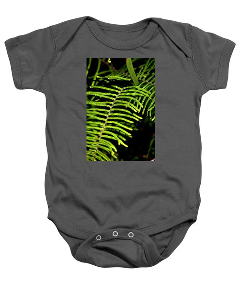 Baby Onesie featuring the photograph Pauched Coral Fern by Miroslava Jurcik