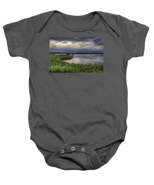 Peaceful Evening At The Lake Baby Onesie