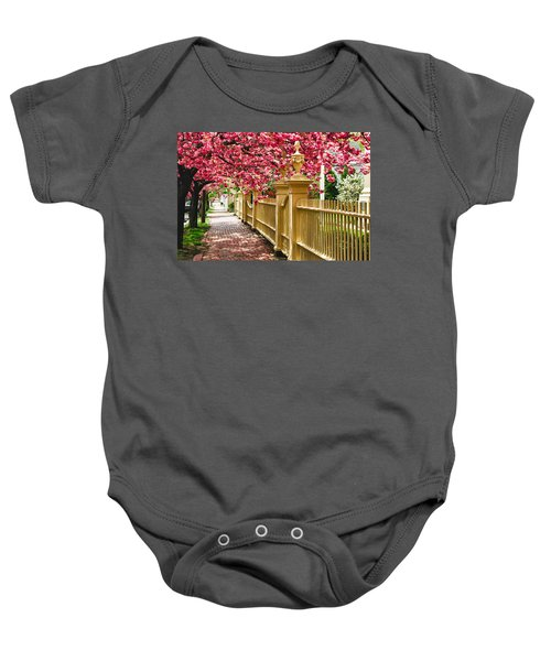 Perfect Time For A Spring Walk Baby Onesie