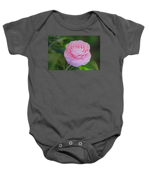 Perfection With Message Baby Onesie