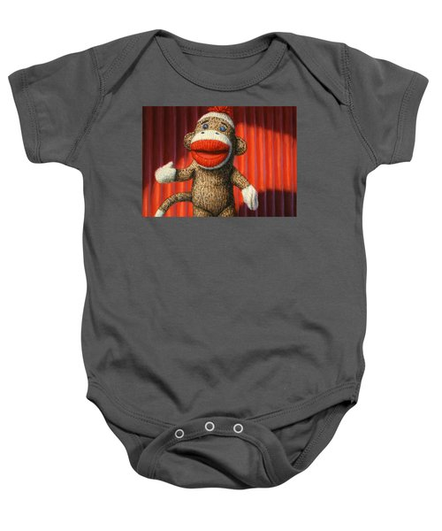 Performing Sock Monkey Baby Onesie
