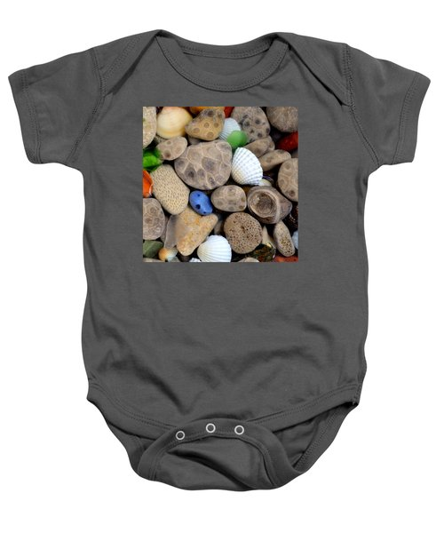 Petoskey Stones V Baby Onesie by Michelle Calkins