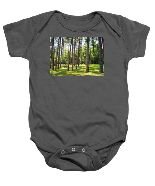 Picnic In The Pines Baby Onesie