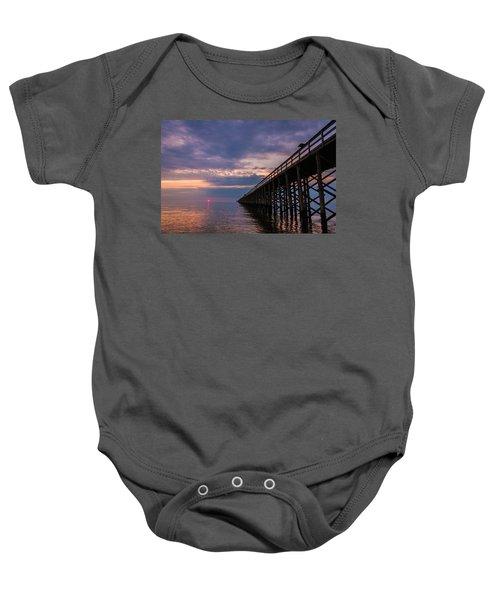 Pier To The Horizon Baby Onesie