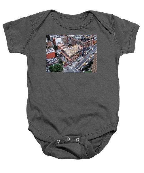 Placing Concrete Forms Baby Onesie