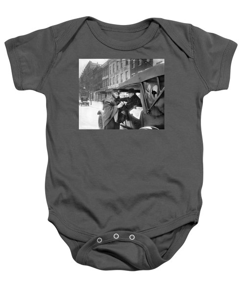 Policeman And Coffee, C1920 Baby Onesie