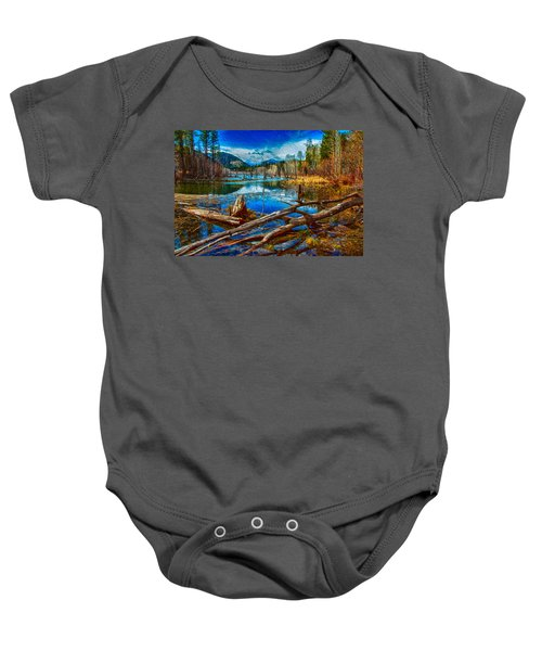 Pondering A Mountain Baby Onesie