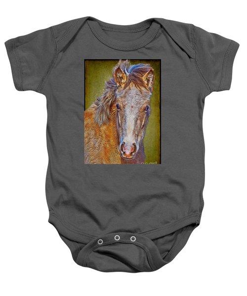 Pony Portrait  Baby Onesie