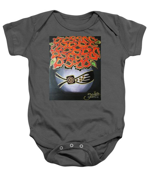 Poppies Revisited.. Baby Onesie
