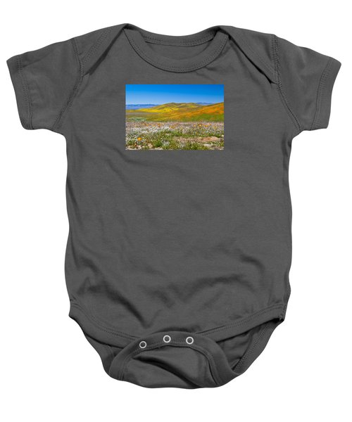 Poppy Fields Baby Onesie