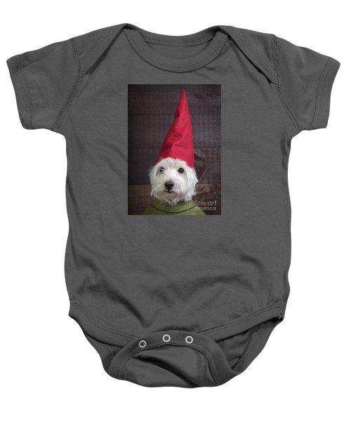 Portrait Of A Garden Gnome Baby Onesie