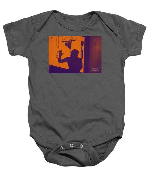 Purple Orange Figure Shadow Baby Onesie