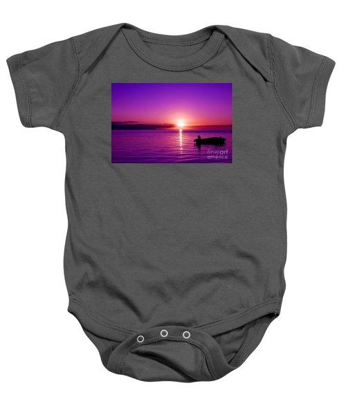 Purple Sunrise Baby Onesie
