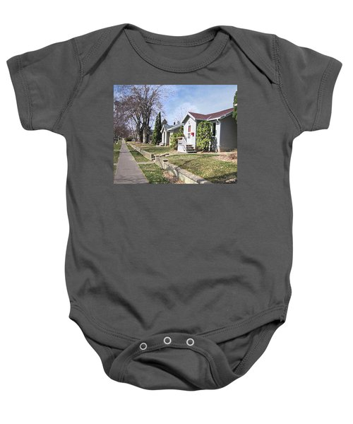 Quiet Street Waiting For Spring Baby Onesie