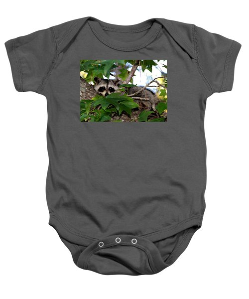 Raccoon Eyes Baby Onesie
