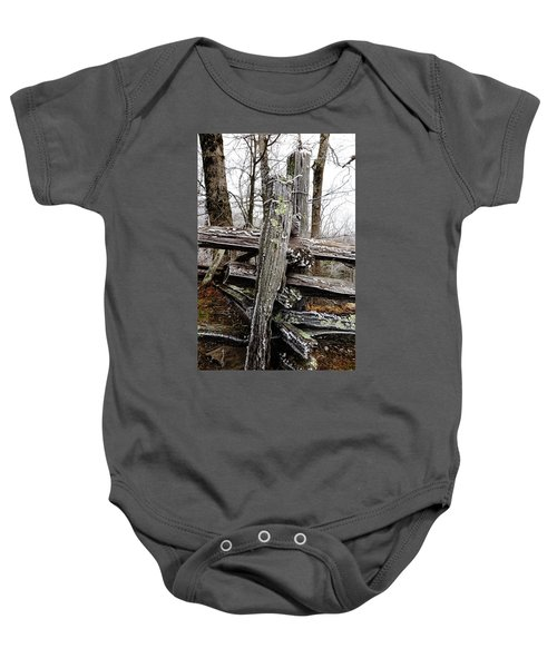 Rail Fence With Ice Baby Onesie
