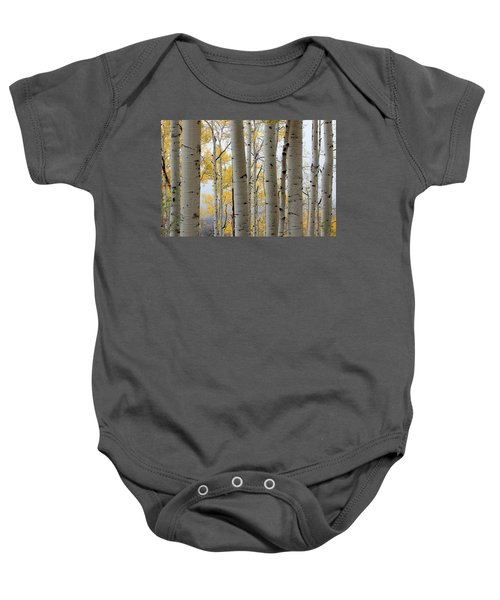 Rainy Day Aspen  Baby Onesie