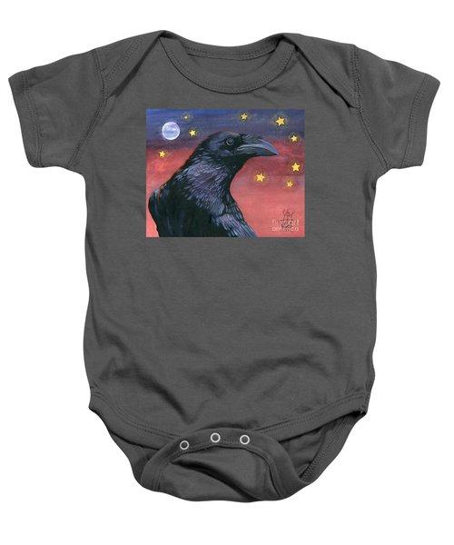 Raven Steals The Moon - Moon What Moon? Baby Onesie