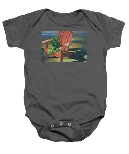Red Adirondack Chair Baby Onesie