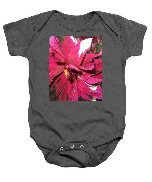 Red Flower In Bloom Baby Onesie