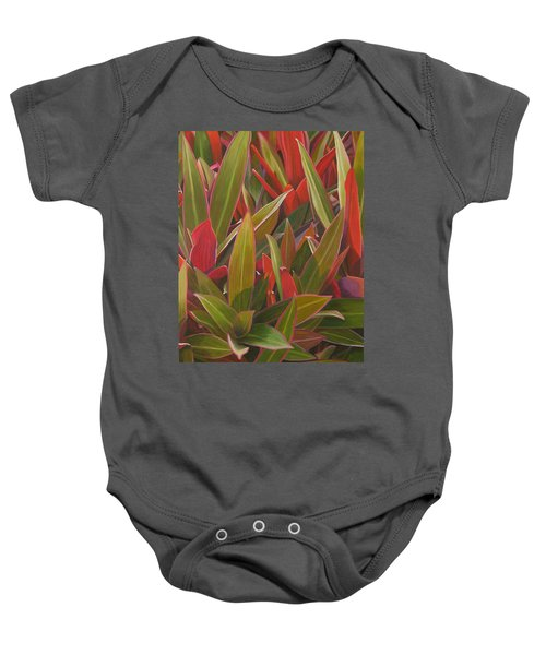 Red Green And Purple Baby Onesie