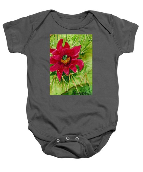 Red Prickly Pear Baby Onesie
