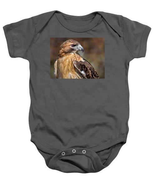 Red Tail Hawk Baby Onesie