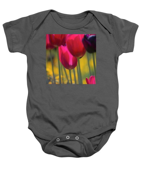 Red Tulips Baby Onesie