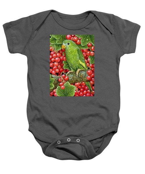 Redcurrant Parakeet Baby Onesie by Ditz