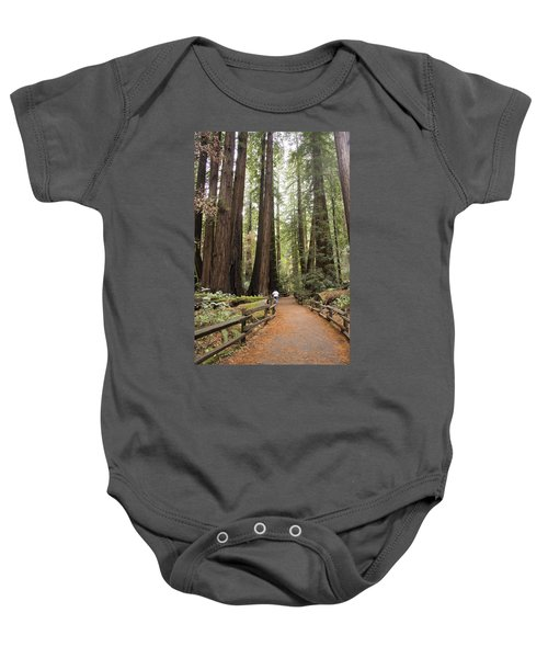 Redwood Trees Baby Onesie