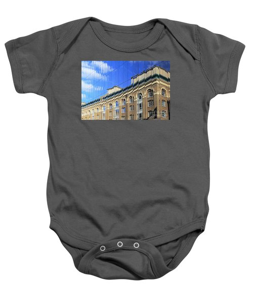 Reflected Building London Baby Onesie