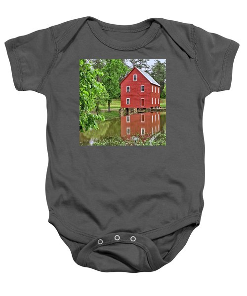 Reflections Of A Retired Grist Mill - Square Baby Onesie