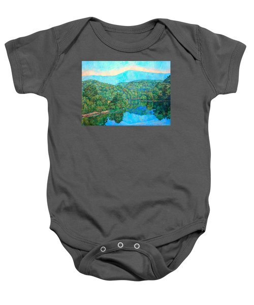 Baby Onesie featuring the painting Reflections On The James River by Kendall Kessler