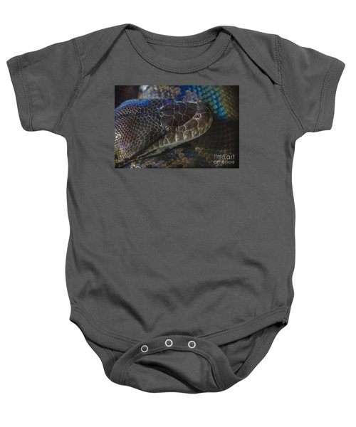 Reticulated Python With Rainbow Scales Baby Onesie