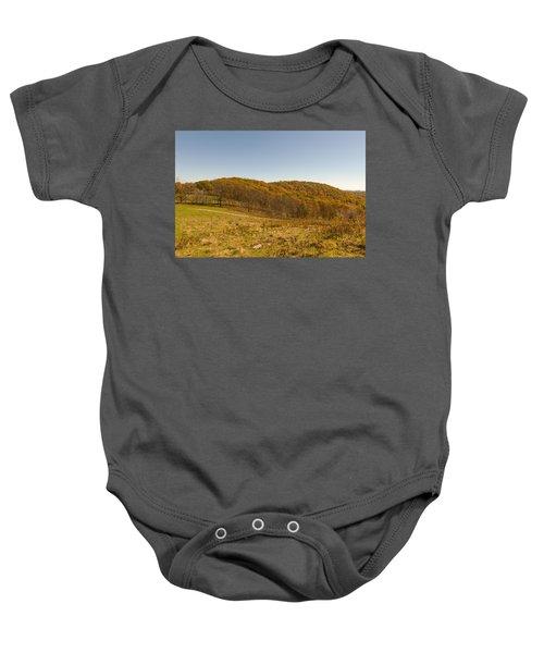 Rich Mountain Autumn Baby Onesie