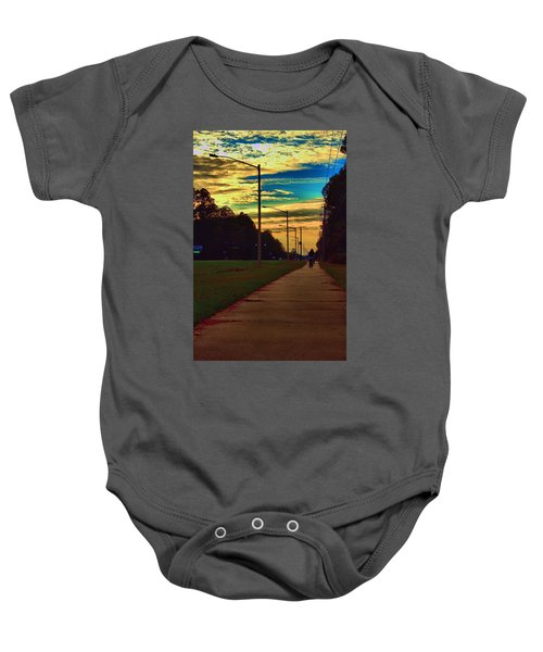 Riding Into The Sunset Baby Onesie