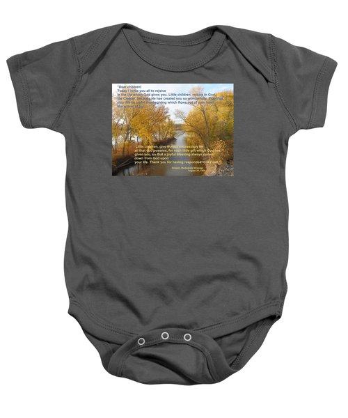 River Of Joy Baby Onesie