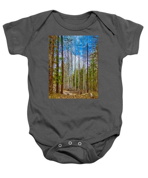 River Run Trail At Arrowleaf Baby Onesie