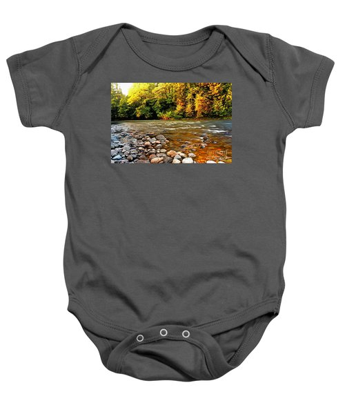 River Sunset Baby Onesie