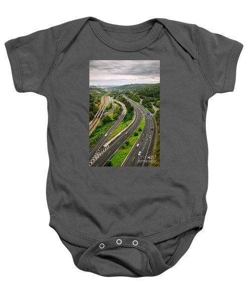 Roads Top View Baby Onesie