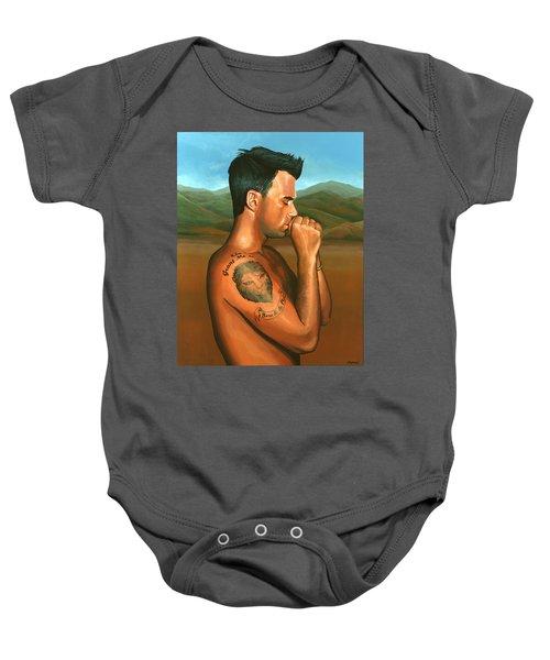 Robbie Williams 2 Baby Onesie by Paul Meijering