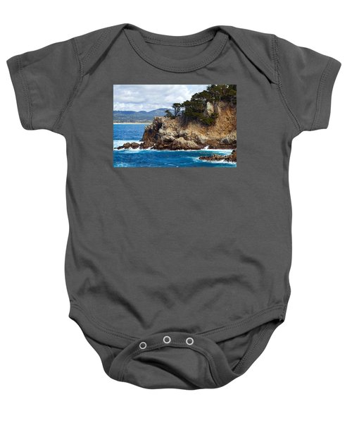 Rocky Outcropping At Point Lobos Baby Onesie