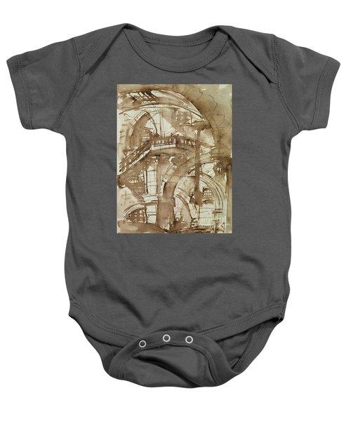 Roman Prison Baby Onesie by Giovanni Battista Piranesi