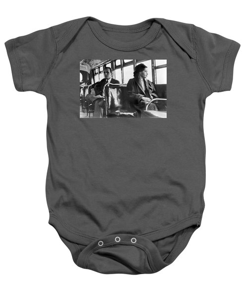 Rosa Parks On Bus Baby Onesie