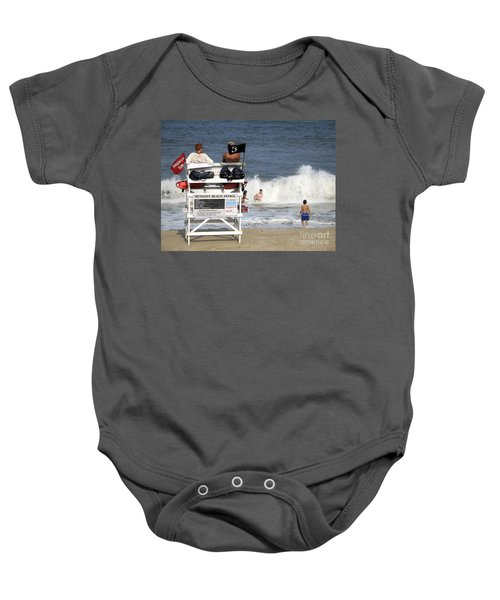 Rough Water At Bethany Beach In Delaware  Baby Onesie