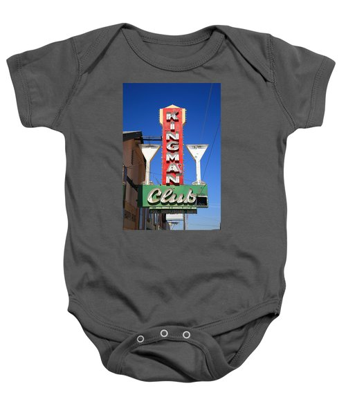 Baby Onesie featuring the photograph Route 66 - Kingman Club by Frank Romeo