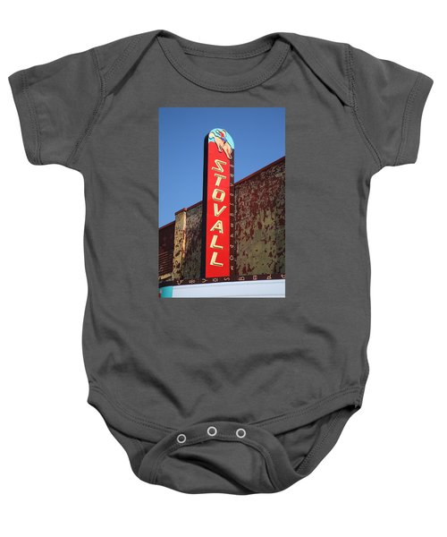 Baby Onesie featuring the photograph Route 66 - Stovall Theater by Frank Romeo