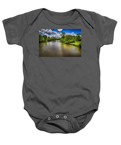 Baby Onesie featuring the photograph Royal River by Mark Myhaver