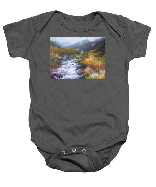 Running Down - Landscape View From Hatcher Pass Baby Onesie